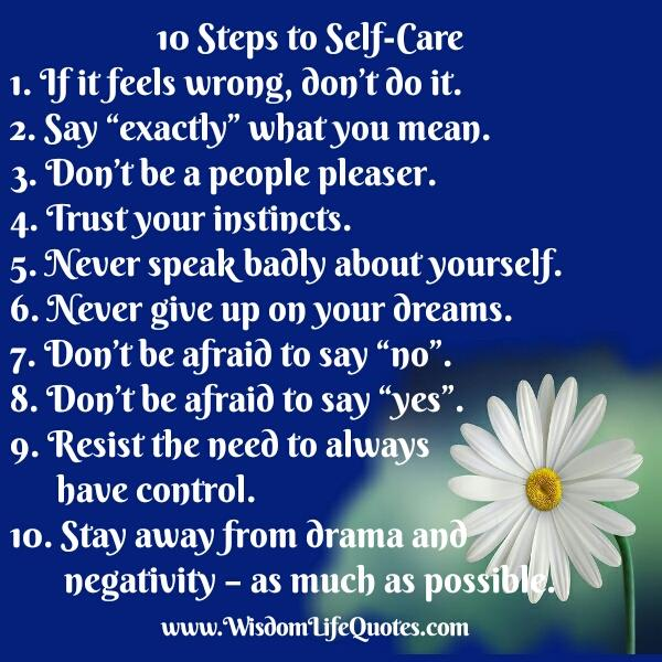 10 Steps to Self-Care