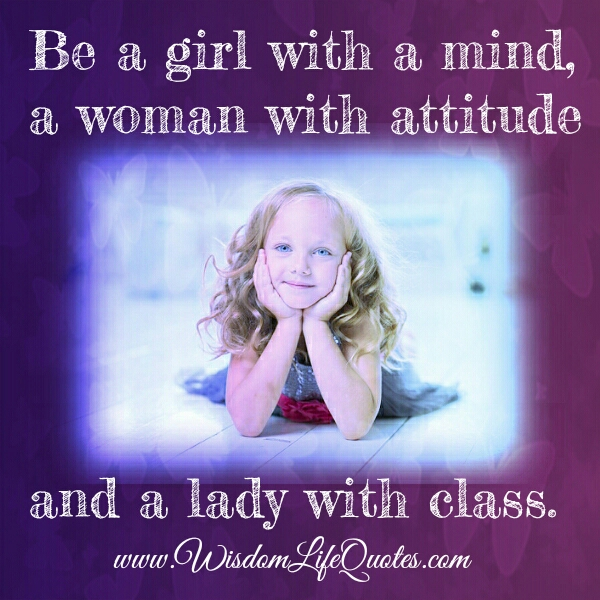 A woman with attitude