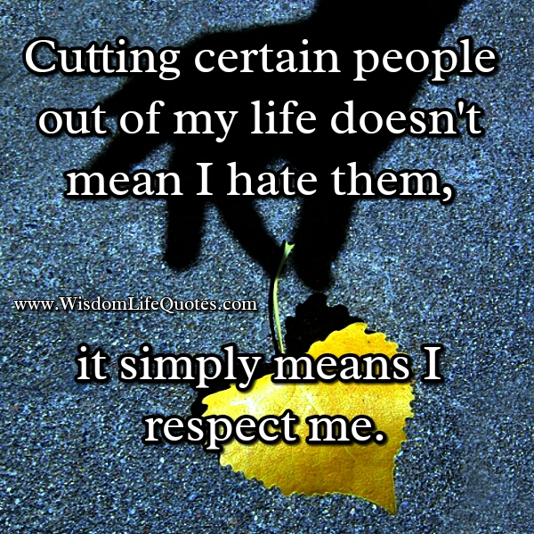 how to stop cutting people out of our life