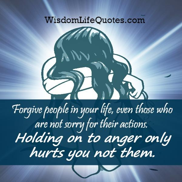 Holding on to anger only hurts you
