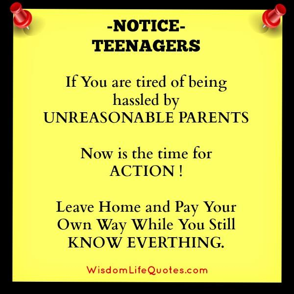If You Are Tired Of Being Hassled By Unreasonable Parents