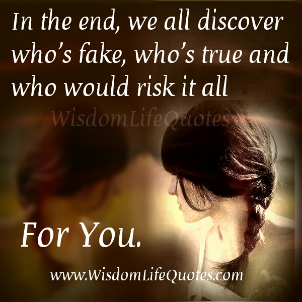 In the end, we all discover who's Fake