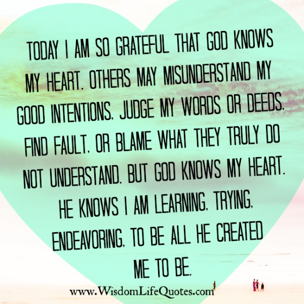 Others may misunderstand your good intentions
