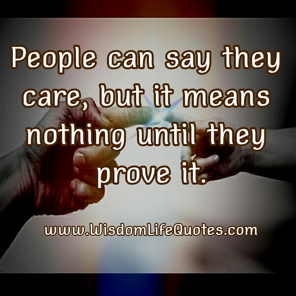 People Can Say They Care