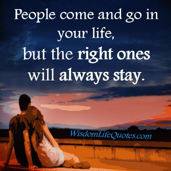 People come & go in your life