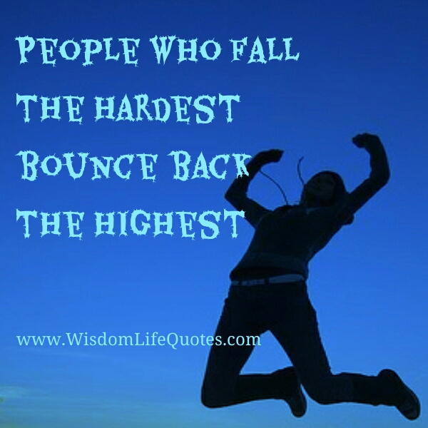 People who fall the hardest