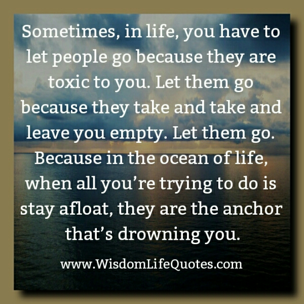 Sometimes, you have to Let people go