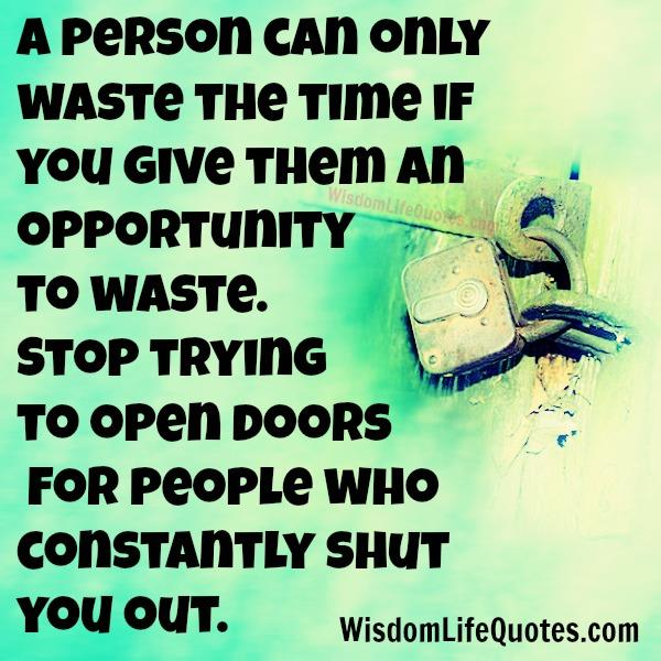 Stop trying to open doors for people