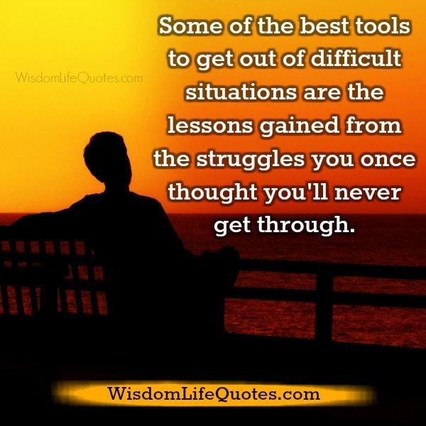 The best tools to get out of difficult situations