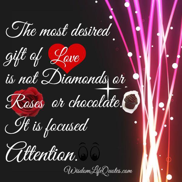 The most desired gift of love