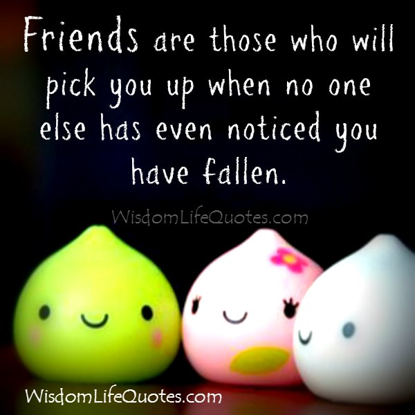 Those who will pick you up when you have fallen in life
