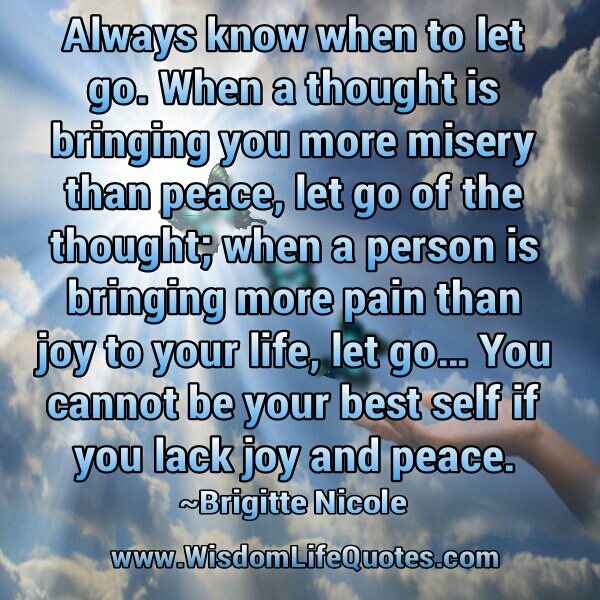 You cannot be your best self if you lack joy and peace
